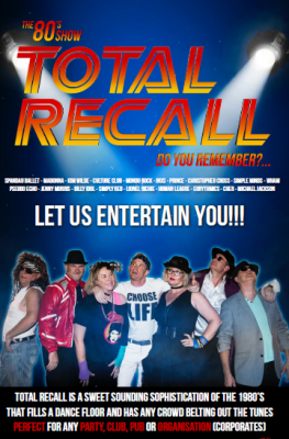 Total Recall - top 80's music performance act - excels at private parties and events