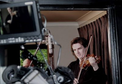 Vov Dylan recording his violin in studio - All Things Entertainment