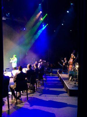Vov Dylan lights stage orchestra