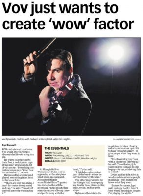 A Newspaper article on Vov Dylan. All Things Entertainment