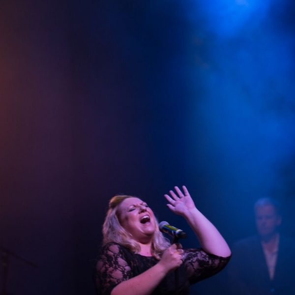 Emma Kirk performing live on stage during The Adele Experience Show - All Things Entertainment